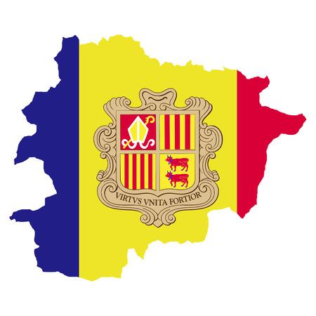 andorra: Territory and flag of Andorra Illustration
