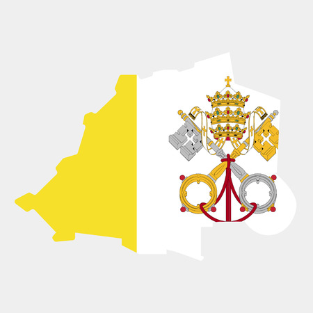 Territory and flag of Vatican Illustration