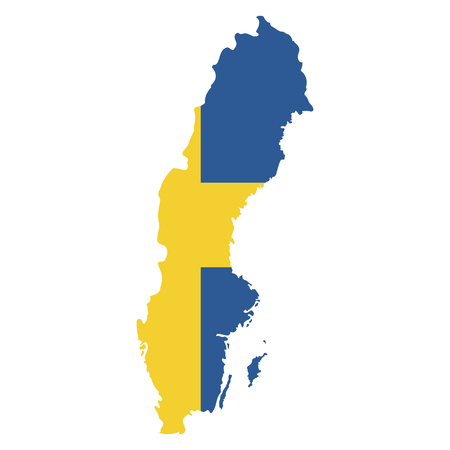 territory: Territory and flag of Sweden Illustration