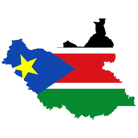 south sudan: Territory and flag of South Sudan