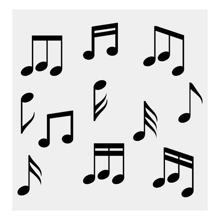 Collection of music notes Illustration