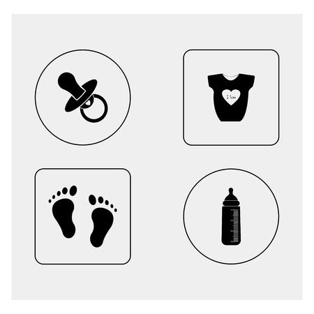 romper: Baby shower Illustration