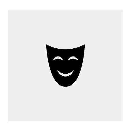 theatrical performance: Comedy mask Illustration