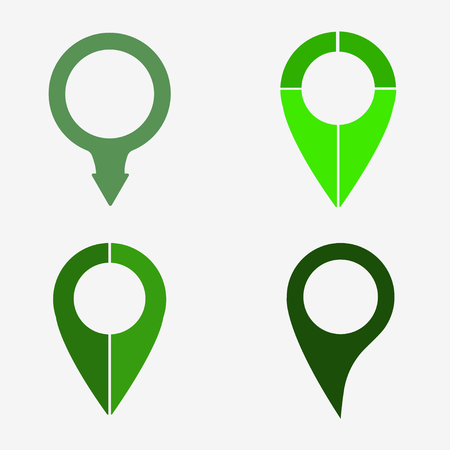 web directories: Map pointer icon on a grey background Illustration