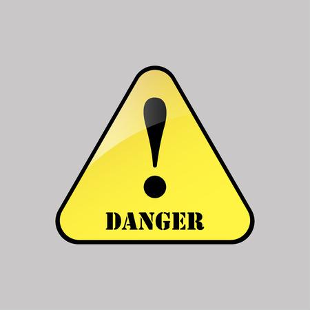 Danger-warning-attention sign