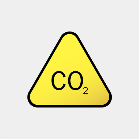 Danger-warning-attention sign CO2 Illustration