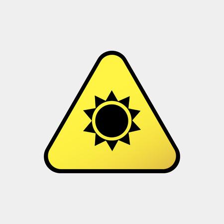 Danger-warning-attention sign Sun