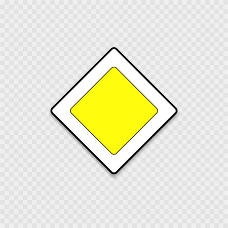 preference: Road sign, main road on a grey background Illustration
