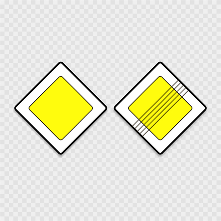 道路標識は、灰色の背景に主な道路