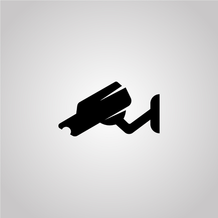 Video surveillance. Security camera vector icon Çizim