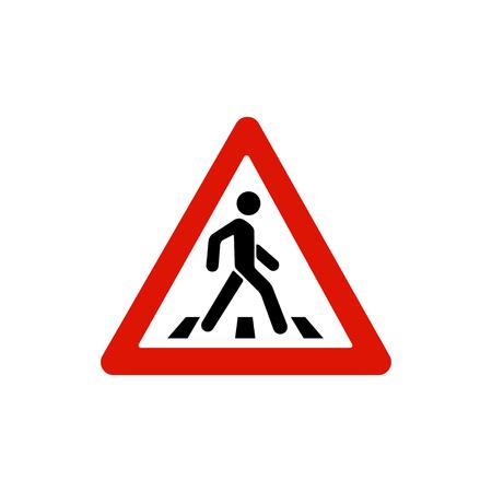 Signo de cruce de peatones, signo de paso de peatones