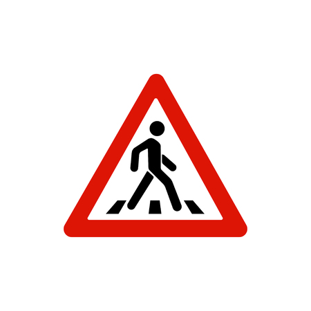 Pedestrian crossing sign, pedestrian crosswalk sign