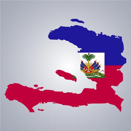 Territory and flag of Haiti Illustration