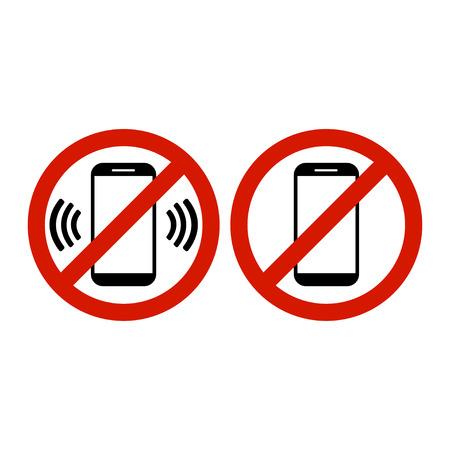 Geen telefoon toegestaan pictogram vectorillustratie. Stock Illustratie