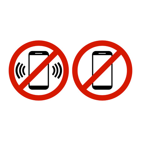 No phone allowed icon vector illustration.