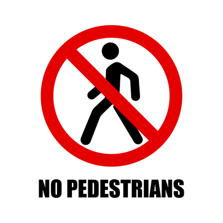 Ban sign of pedestrian crossing.