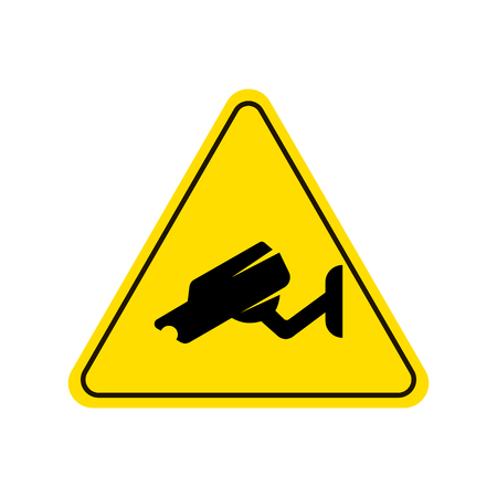 Video surveillance sign. Illustration