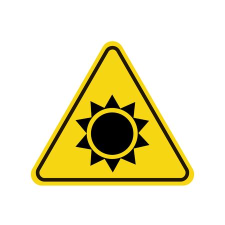 Sun danger sign vector illustration.