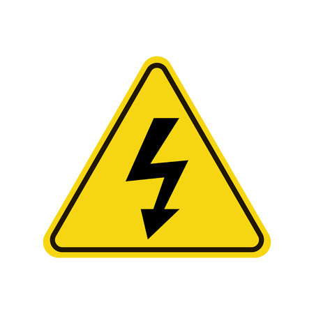 High voltage icon warning sign.