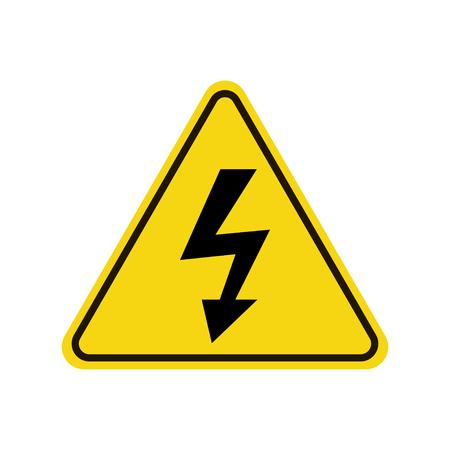 Warnzeichen der Hochspannungsikone.
