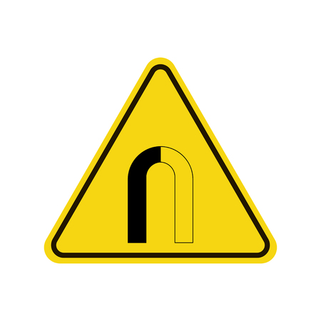 Caution strong magnetic field sign. Illustration