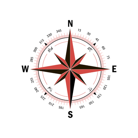 Compass icon, Vector illustration