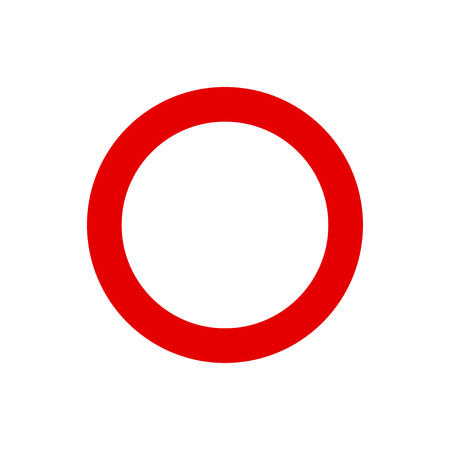 Red circle stop sign
