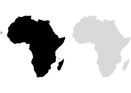 Continent Africa on a white background