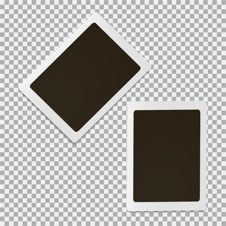 Set of photo frame on a grey background Illustration