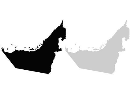 Territory of The United Arab Emirates 向量圖像