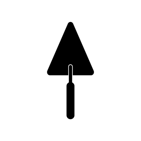 Black trowel icon. Illustration