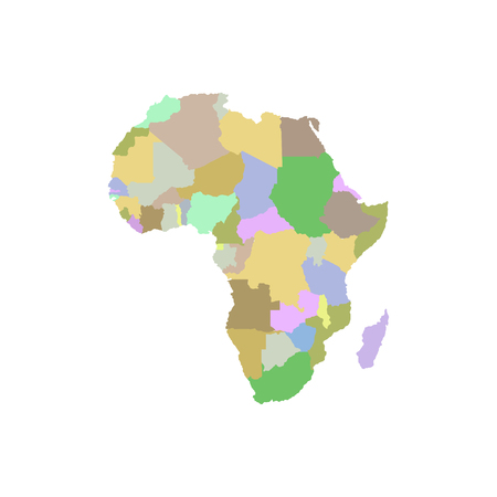 Continent Africa on a white illustration. Çizim