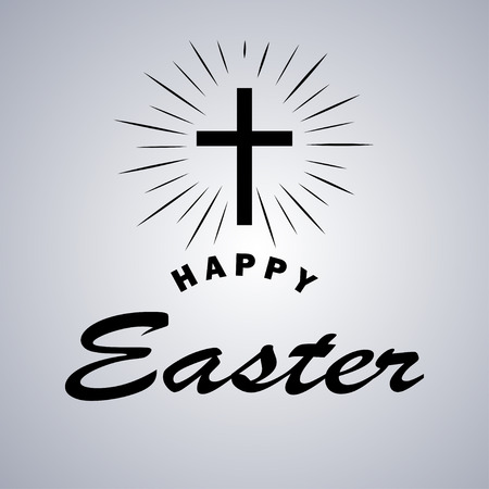 Easter holiday celebration card design.