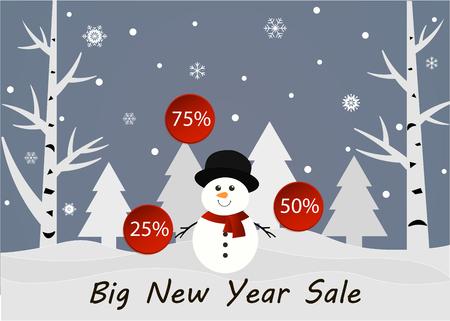 Big New Year sale banner.