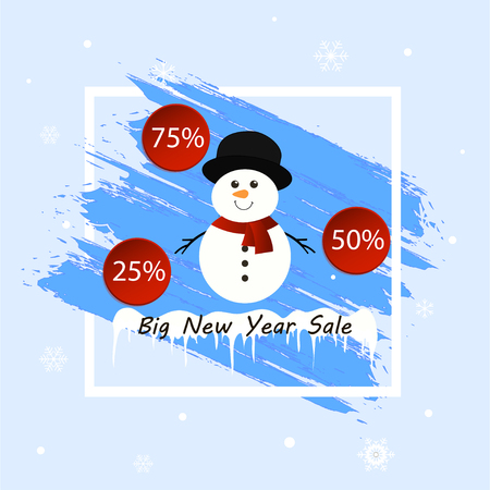 Big New Year sale banner.