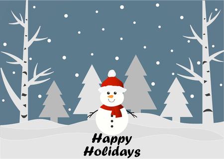 Happy Holidays banner.  イラスト・ベクター素材