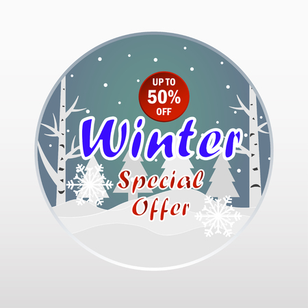 Winter special offer banner.