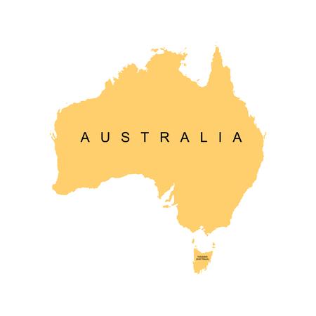 Territory of Australia. Vector illustration