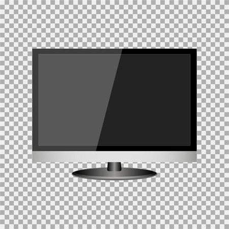 Illustration of a blank computer screen monitor on a checked background. Ilustrace