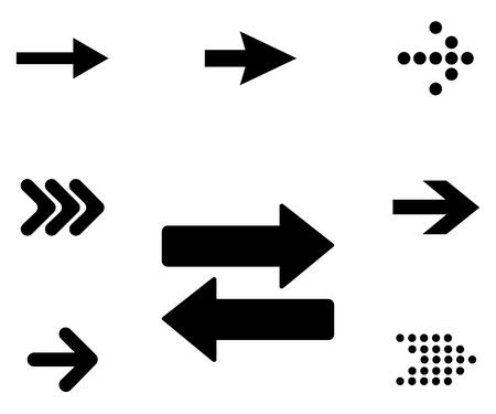 Set of pointer, arrow signs Illustration