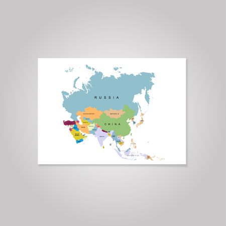 Territory of Asia. Vector illustration