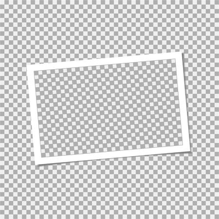 Photo frame with shadow. Vector template for your trendy photo or image