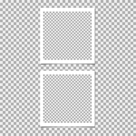 Set of photo frame. Vector template for your trendy photo or image