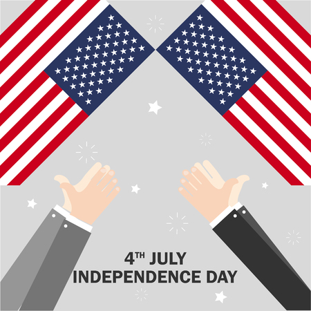 The celebration of The Independence Day. Vector illustration. Fourth of July Independence Day of America