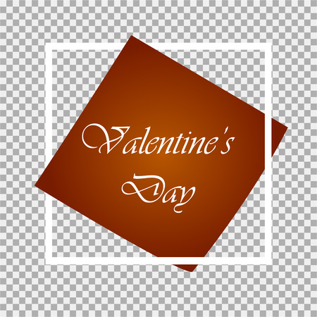 Happy Valentines Day Card. Gray background. Vector illustration