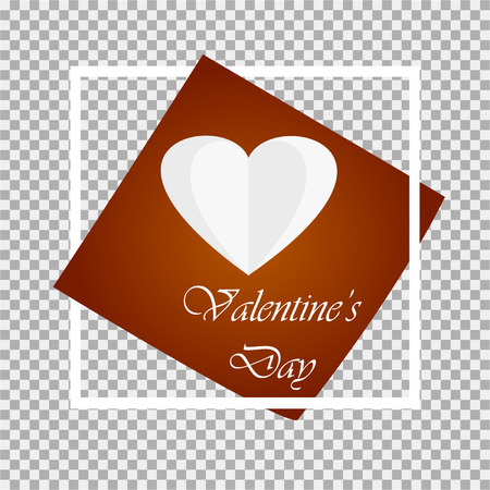 Happy Valentine's Day Card. Gray background. Vector illustration
