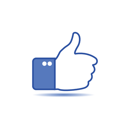 Thumbs up. Like icon for social network. Hand gesture. Vector illustration