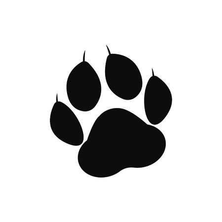 Paw print. Animal paw. Footprint, footstep. Vector illustration Vettoriali