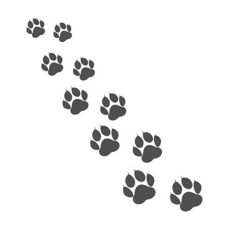 Paw print. Animal paw. Footprint, footstep. Vector illustration Ilustração