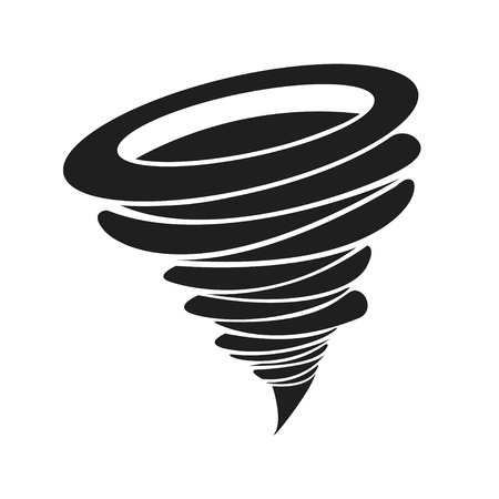 Whirlwind sign. Tornado. Hurricane. Hurricane - storm. White background. Vector illustration